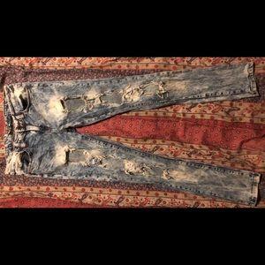 VIP distressed skinny jeans
